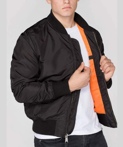 77c12b743 Alpha Industries MA1 TT Bomber Jacket Black