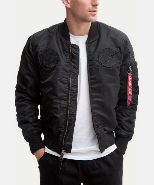 40afabb35 Alpha Industries MA1 VF NASA All Black