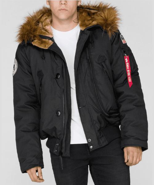 d8a73f60780 Alpha Industries Polar SV Bomber Parka Black - Bennevis Clothing