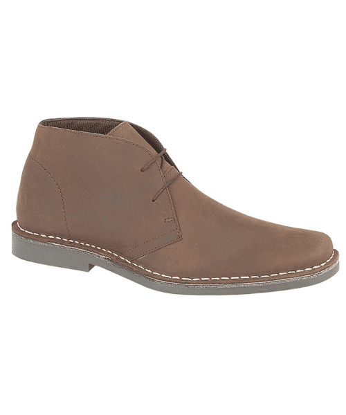 Waxed Leather Pointy Toe Desert Boot