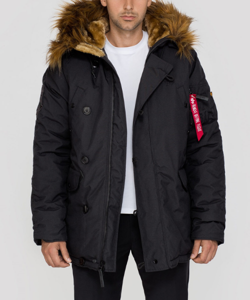 garra Fugaz estera  Alpha Industries Explorer Parka Black - Bennevis Clothing