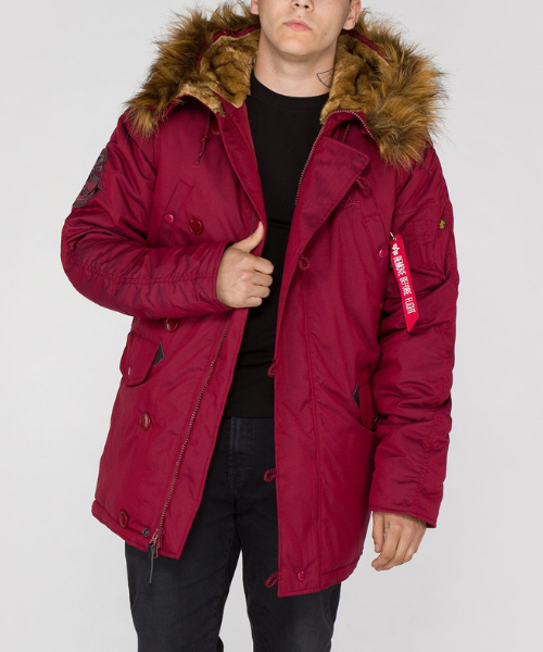 Huracán tos diferente  Alpha Industries Explorer W/O Patch Parka Burgundy - Bennevis Clothing