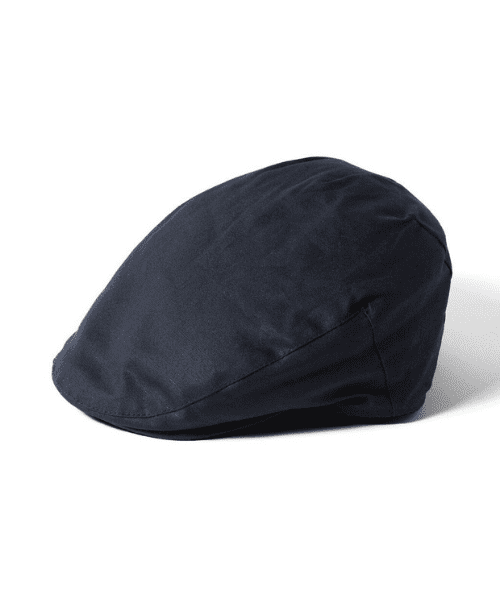 Navy Failsworth Hats Wax Flat Cap