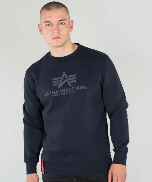 fb727cc48 Alpha Industries Basic Sweater Rep Blue - Bennevis Clothing