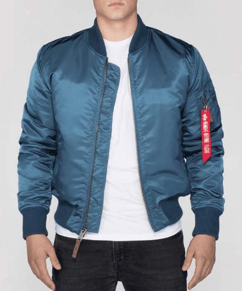 super cute finest fabrics special sales Alpha Industries MA1 VF-59 Bomber Jacket Bold Blue