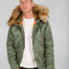 N3B VF 59 NEW FUR SAGE ALPHA INDUSTRIES PARKER COAT ORIGINAL 3