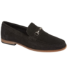 SUEDE-LEATHER- LOAFERS- BLACK